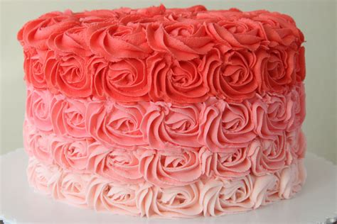 red roses pink ombre cake pink ombre rose cake rebecca cakes bakes