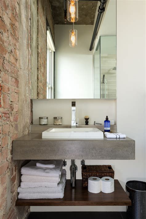 industrial style bathroom vanity what s your style industrial bathroom elements