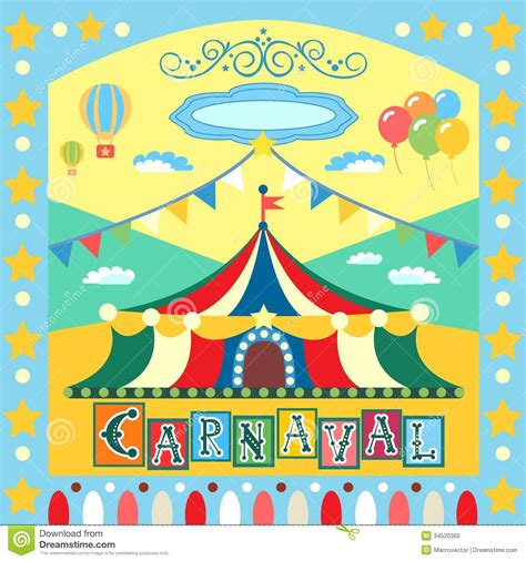 carnival poster stock vector image of template banner
