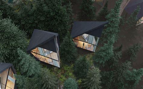 architect designs sustainable futuristic tree houses  italian forest bored panda