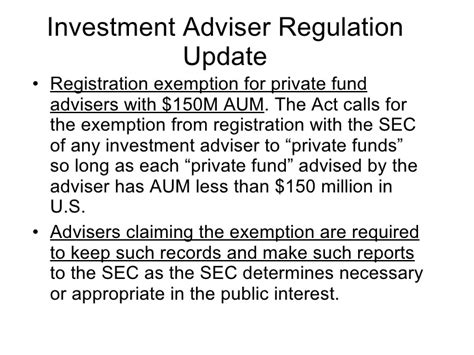 investment company act section 3 c investment adviser regulation update