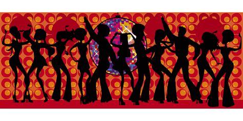 60er 70er gratis vectorafbeelding dans viering disco muziek