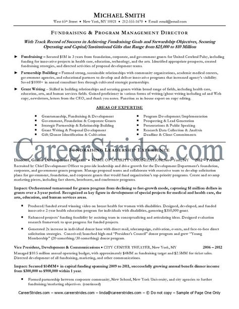 Resume About Me Page Executive Resume Sle Exle