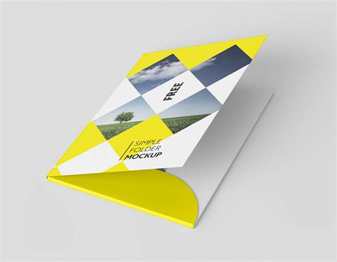Free Folder Mockup On Behance A4 Folder Template Psd