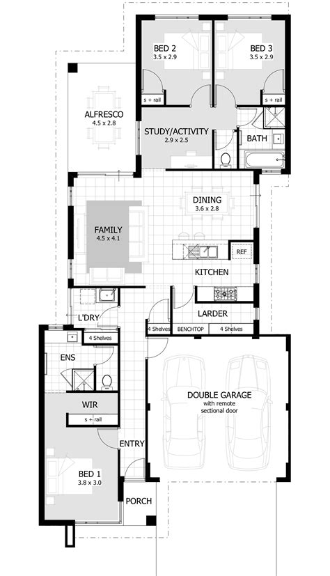 3 bedroom house plan drawing 3 bedroom house plans home designs celebration homes