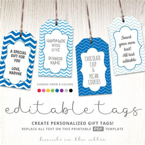 goodie bag tag template editable gift tags gift tag template text editable chevron