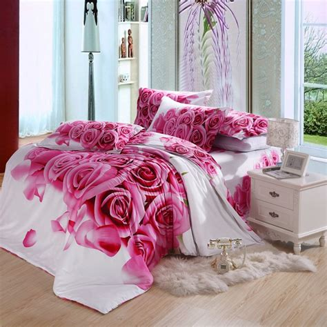 rose comforter set pink rose flowers full an queen bedding flowers bedding sets