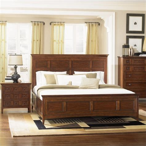 magnussen harrison bedroom furniture magnussen harrison panel bed 2 piece bedroom set in cherry
