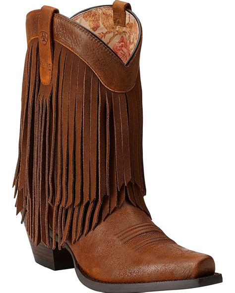 ariat gold fringe boots snip toe country