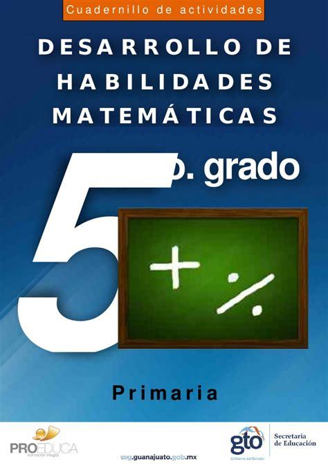 imagenes de habilidades matematicas cuadernillo matematicas 5 grad opdf