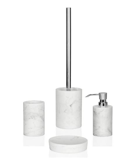 White Marble Bathroom Accessories Toothbrush Holder Resin White Marble Effect