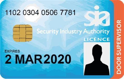 Renew Sia Door Supervisor Licence sia license card archives for industry