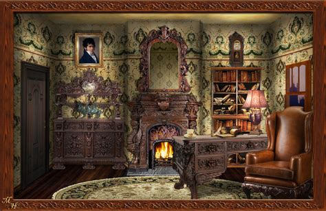 1900 Home Decor victorian study by ookamikasumi on deviantart
