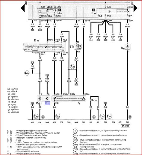 audi 2000 a4 1 8t wiper diagram autos post