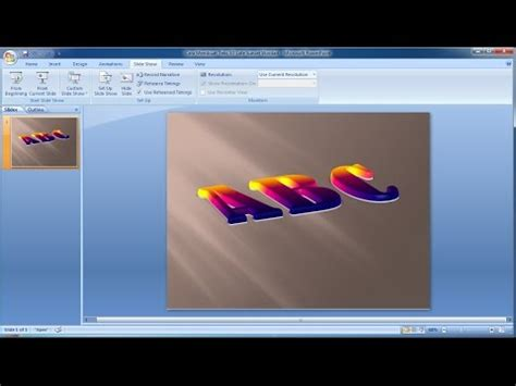 membuat powerpoint 3d tutorial powerpoint 2007 cara membuat teks 3d late sunset