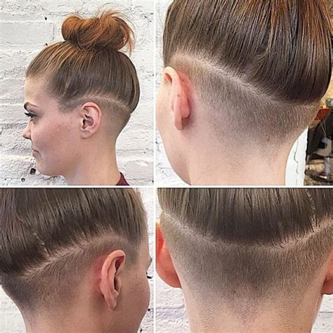 women undercut long girlswithundercuts
