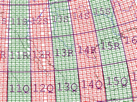 grid pattern map mgrs zones