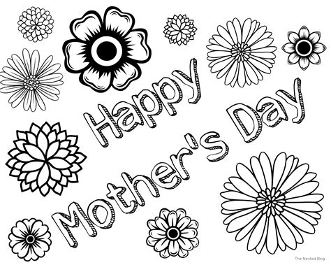 mothers day coloring page free mothers day cards coloring pages