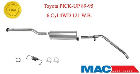 1991 Toyota Exhaust System 1989 1995 Toyota Up 3 0l 4x4 Muffler Exhaust System