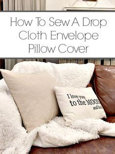 How To Sew Envelope Pillow by How To Make Pillow Covers From Curtains Pillow Covers