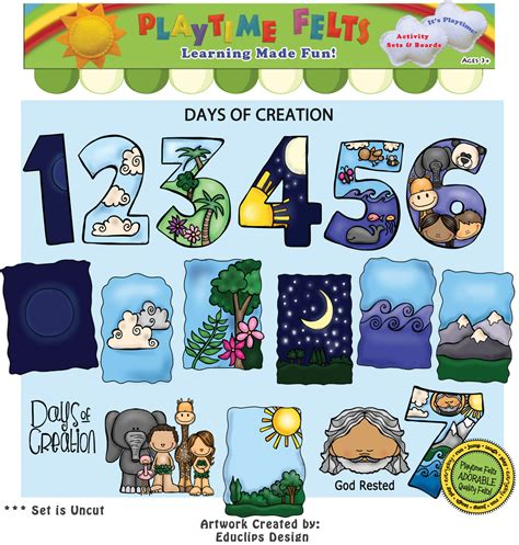 what is the story of day days of creation bible felt story for preschoolers