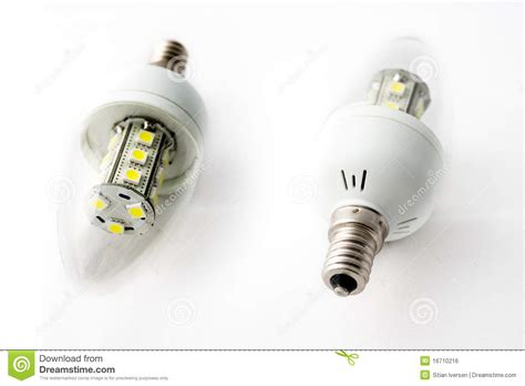 Led Light Bulbs Two Royalty Free Stock Image Image 16710216 Free Led Light Bulbs