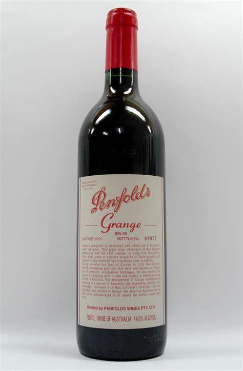Penfolds Grange by Penfolds Grange Shiraz 2000 Wine Ebay