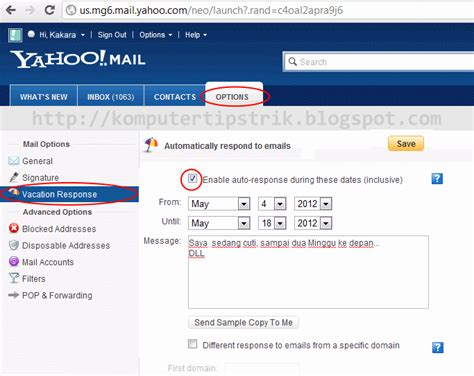 membuat auto reply di yahoo mail cara setting autoresponder autoreply vacation response