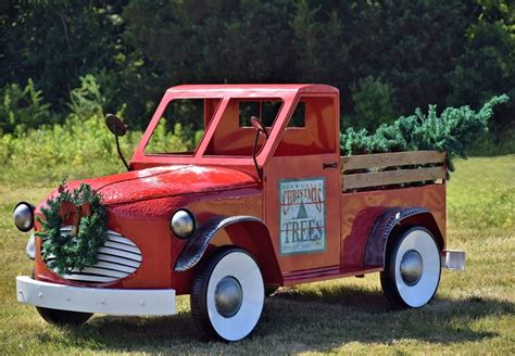 red christmas vintage pick ups for sale tis your season large antique up truck with tree commercial