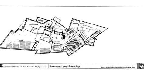 basement level floor plan of denver museum daniel