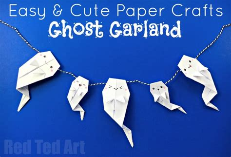How To Make Paper Ghost For - easy origami ghost garland ted s
