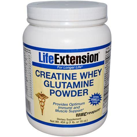 creatine or glutamine extension creatine whey glutamine powder