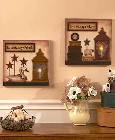 lakeside home decor lighted country wall art the lakeside collection