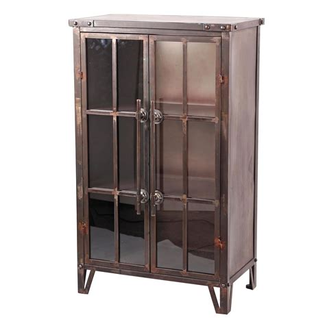 metal and glass bookcase uptown bookcase metal bookcase with glass doors plum post