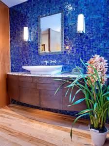 blue tile backsplash bathroom home design ideas