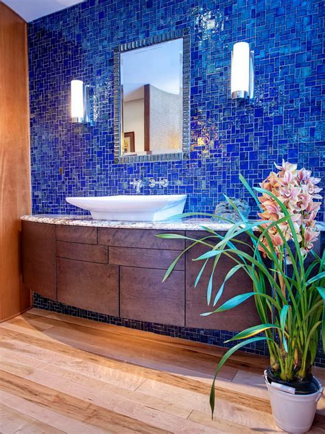 blue tile backsplash blue tile backsplash bathroom home design ideas