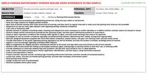 Parking Enforcement Officer Cover Letter by Coffee Shop Worker Resume