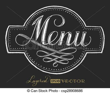 menu design lettering vector of menu chalk lettering menu lettering on