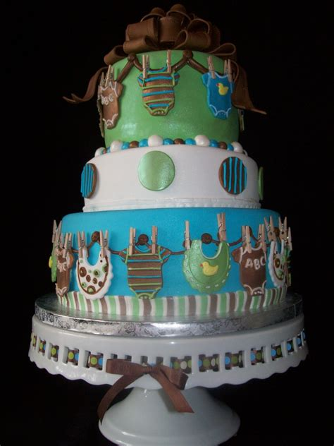 Cake Decorations For Baby Boy Shower by Ethan Baby Boy Onesie Shower Cake Cakecentral