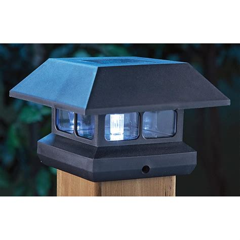 2 Solar Outdoor Post Lights 219700 Solar Outdoor L Post Solar Lights Outdoor