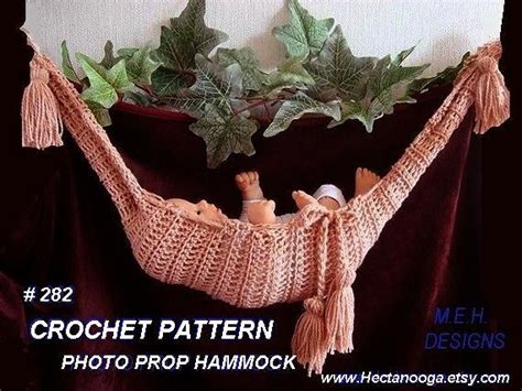 how to knit a hammock crochet pattern 282 baby hammock photo prop for a knitted