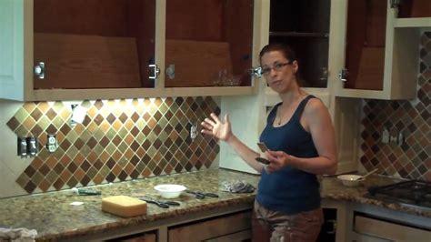 Tile Pictures For Kitchen Backsplashes faux stone backsplash makeover youtube