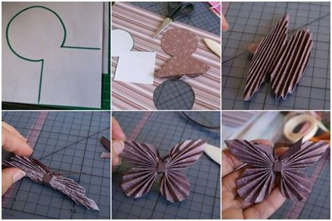 Folded Paper Butterfly Template - how beautiful and easy these folded paper butterflies are