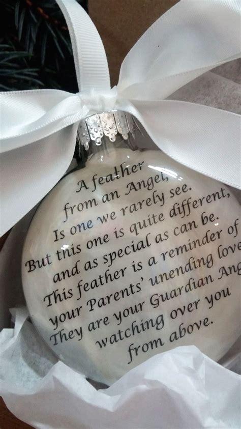 diy memorial ornaments in memory of parents memorial ornament feather