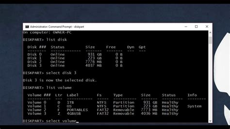 diskpart format command line how to format a drive using command prompt diskpart any