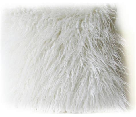 White Faux Fur Pillow by White Faux Fur Pillow Cover Decorative