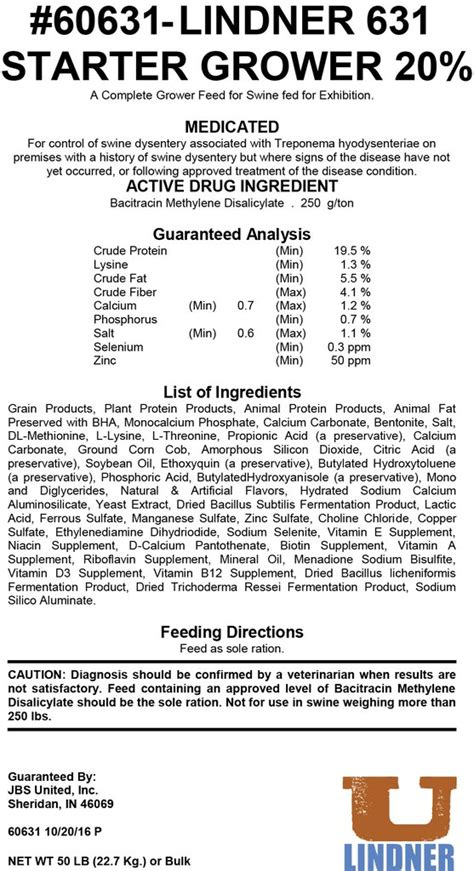 Vitamin Chs Lysine Lindner 631 632 633 Lindner United
