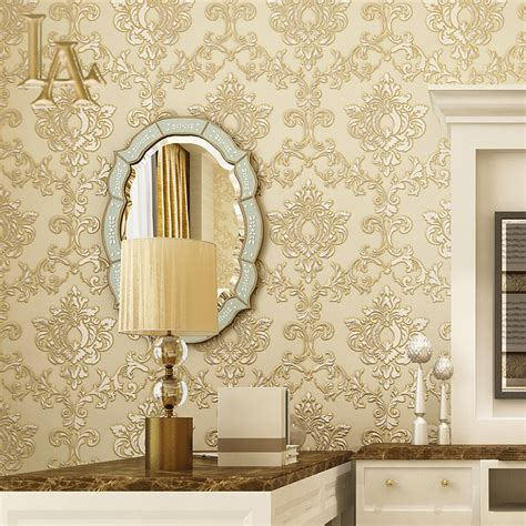 red damask wallpaper home decor aliexpress com buy vintage european luxury homes decor
