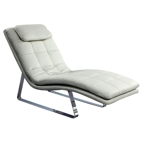 White Leather Chaise Lounge Corvette Chaise Lounge Bonded Leather White Dcg Stores