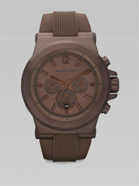 Michael Kors Chronograph michael kors stainless steel chronograph in brown for espresso lyst